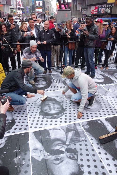 JR's Inside Out Project on Time Square - Billionaire Boys Club